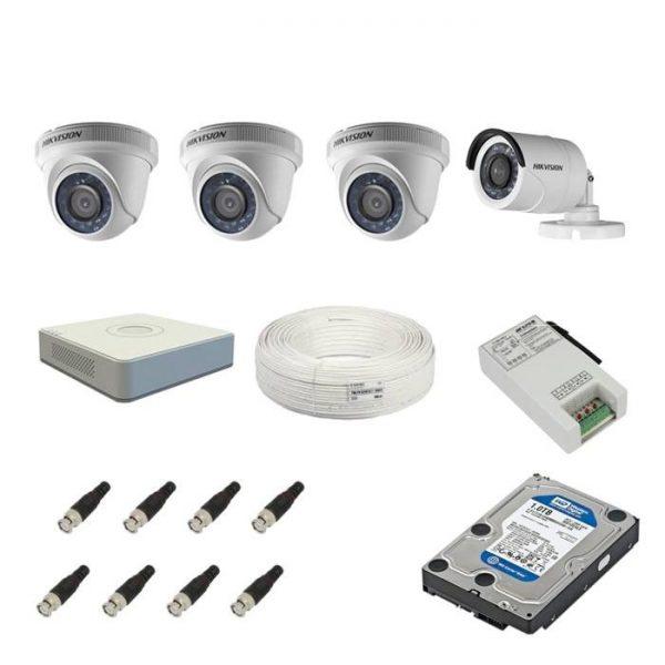 Hikvision 4 channel CCTV Setup