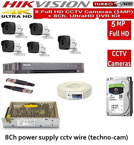 Hikvision 5 mp 8 channel